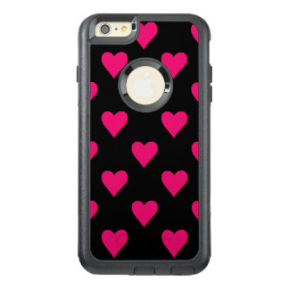 Cute Pink and Black Heart Pattern OtterBox iPhone 6/6s Plus Case