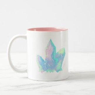 Cute Pink and Blue Crystal Two Tone Coffee Mug