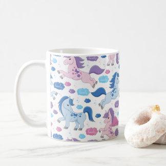 Cute pink and blue unicorns pattern Mug