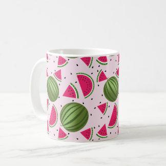 Cute pink and Green watermelon pattern Coffee Mug