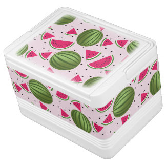 Cute pink and Green watermelon pattern Cooler