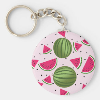 Cute pink and Green watermelon pattern Key Ring