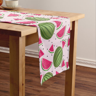 Cute pink and Green watermelon pattern Short Table Runner