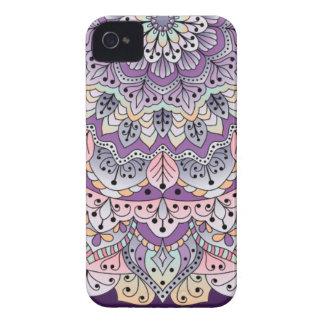 Cute pink and purple floral mandala iPhone 4 Case-Mate case