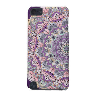 Cute pink and purple floral mandala iPod touch (5th generation) cover