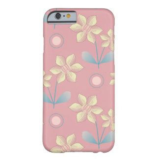 Cute pink and yellow Flowers Pattern Barely There iPhone 6 Case