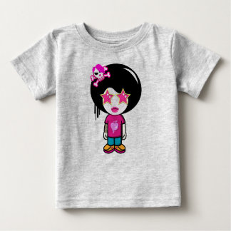 cute pink apple girl baby T-Shirt