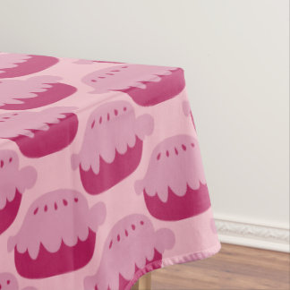 Cute pink applie pie pastry pattern tablecloth