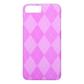 Cute Pink Argyle Pattern iPhone 7 Plus Case