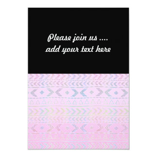Cute Pink Aztec Art Influenced Pattern Card