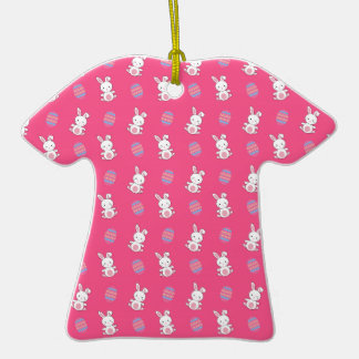 Cute pink baby bunny easter pattern ornament