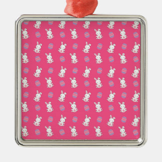 Cute pink baby bunny easter pattern christmas ornaments