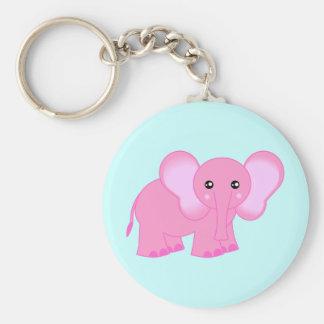 Cute Pink Baby Elephant Key Chain