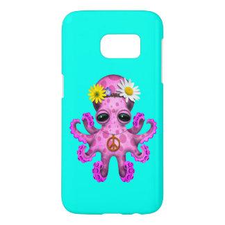 Cute Pink Baby Octopus Hippie