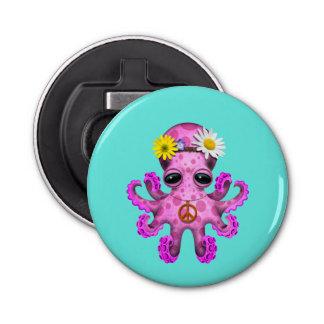 Cute Pink Baby Octopus Hippie Bottle Opener