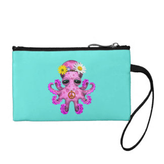 Cute Pink Baby Octopus Hippie Coin Purse