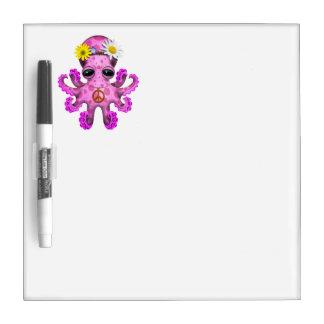 Cute Pink Baby Octopus Hippie Dry Erase Board