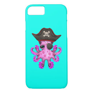 Cute Pink Baby Octopus Pirate iPhone 8/7 Case