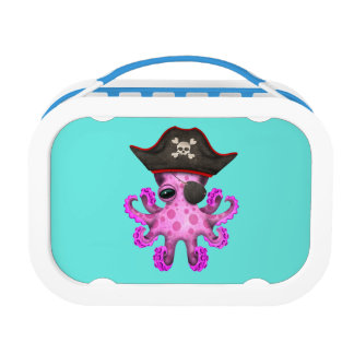 Cute Pink Baby Octopus Pirate Lunch Box