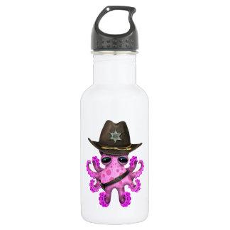 Cute Pink Baby Octopus Sheriff 532 Ml Water Bottle