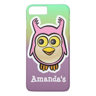 Cute Pink Baby Owl Cartoon iPhone 7 Plus Case