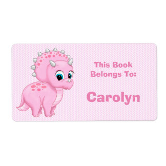 Cute Pink Baby Triceratops Dinosaur Book