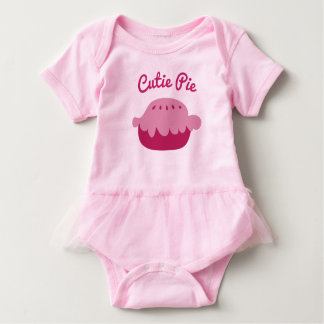 Cute pink baby tutu bodysuit for Cutie Pie girls