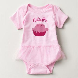 Cute pink baby tutu bodysuit for Cutie Pie girls