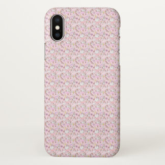 Cute Pink Baby Unicorns Pattern iPhone Case