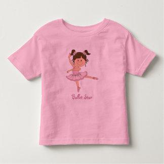 Cute Pink Ballerina 1 Ballet Star Toddler T-Shirt