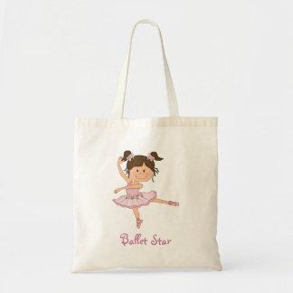 Cute Pink Ballerina 1 Ballet Star Tote Bag