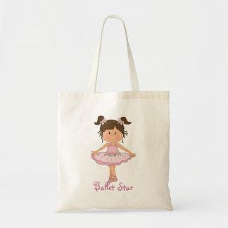 Cute Pink Ballerina 3 Ballet Star Tote Bag