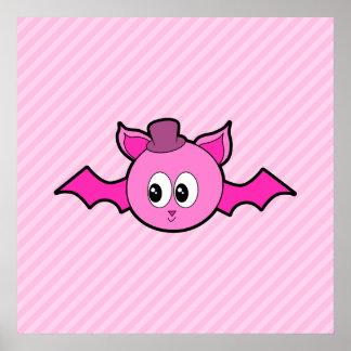 Cute Pink Bat Posters