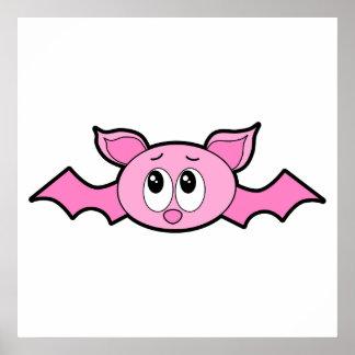 Cute Pink Bat Poster