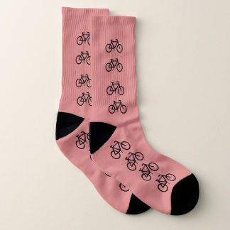 Cute Pink Bicycle Pattern Sports Socks 1