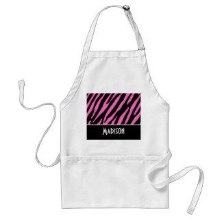 Cute Pink & Black Zebra Stripes Aprons