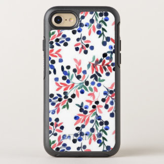 Cute Pink/Blue Flora Pattern iPhone OtterBox Case
