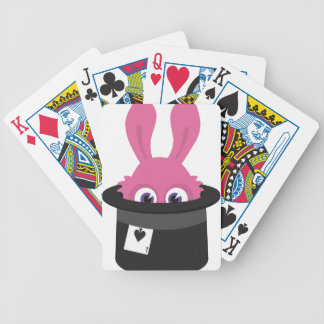 Cute pink bunny for Happy Easter Bicycle Playing Cards