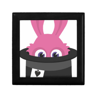 Cute pink bunny for Happy Easter Gift Box