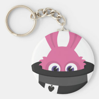 Cute pink bunny for Happy Easter Key Ring