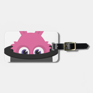 Cute pink bunny for Happy Easter Luggage Tag