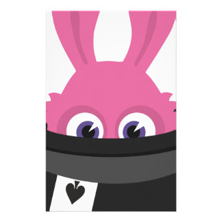 Cute pink bunny for Happy Easter Stationery