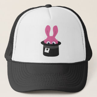 Cute pink bunny for Happy Easter Trucker Hat