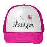 Cute Pink Butterfly Lawyer Cap