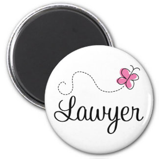 Cute Pink Butterfly Lawyer Refrigerator Magnets