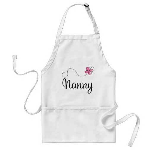 Cute Pink Butterfly Nanny Aprons