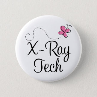 Cute Pink Butterfly X-ray tech 6 Cm Round Badge