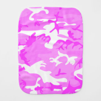 Cute Pink Camouflage Pattern Baby Burp Cloth