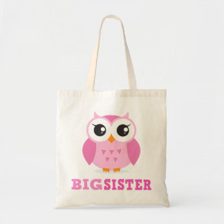 Cute pink cartoon owl girly big sister