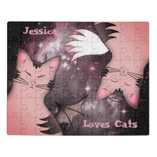 Cute pink cats jigsaw puzzle